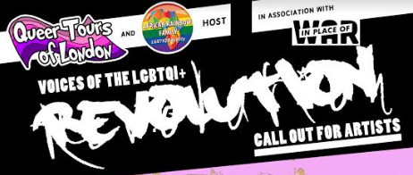 LGBTQI+ Voices of the Revolution – October 2017 – Artist Call Out