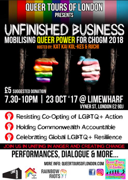 What a night! 'Unfinished Business' – LGBT+ Voices of the Revolution – where next?