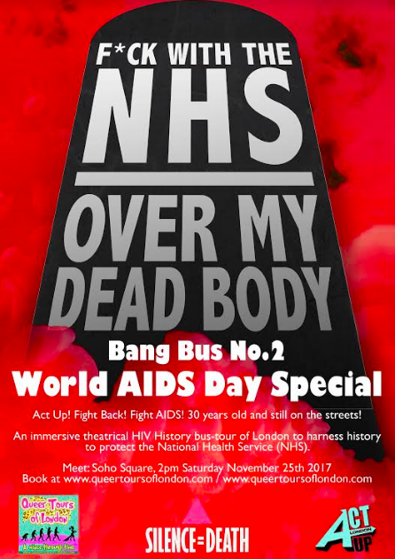 For Immediate Release – World AIDS Day Memorial bus to take on 10 Downing Street in support of the NHS.
