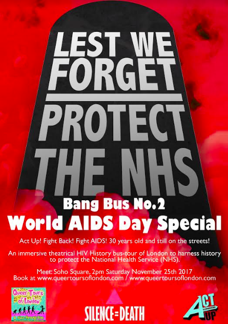 Bang Bus No.2. World AIDS Day Special – November 25th 2pm 2017 – All details here!