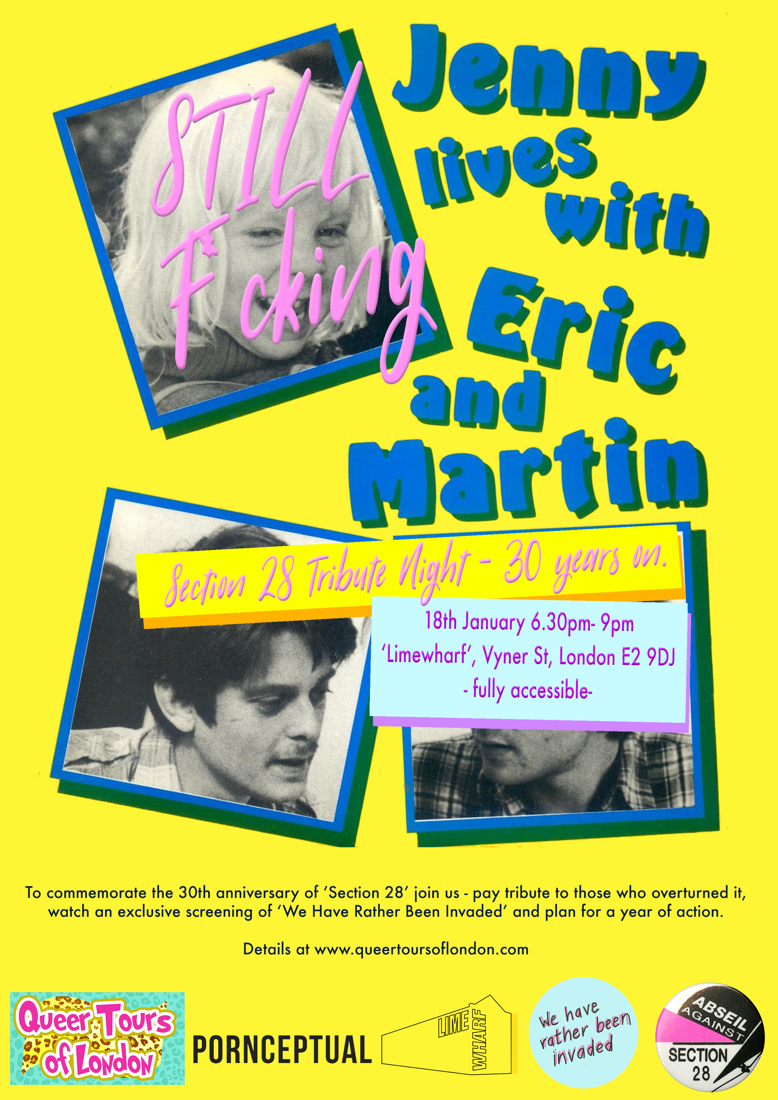18.01.18. – 'Jenny STILL f*cking lives with Eric and Martin' – Section 28 Tribute Night