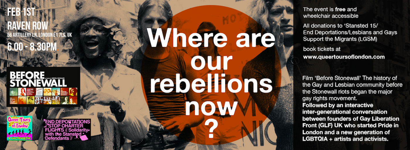 01.02.19 – 'Where are our rebellions now?' Before Stonewall film and panel – book here